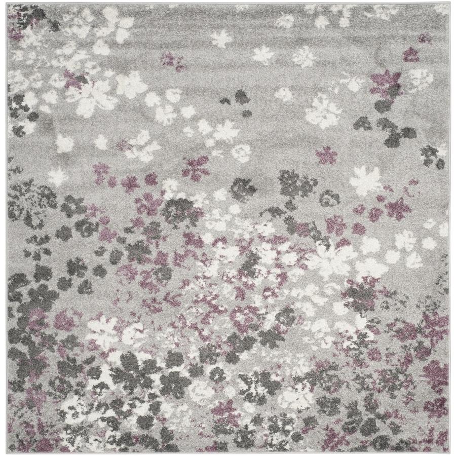 Purple And Gray Area Rugs: Safavieh Adirondack Garden Light Gray/Purple Square Indoor