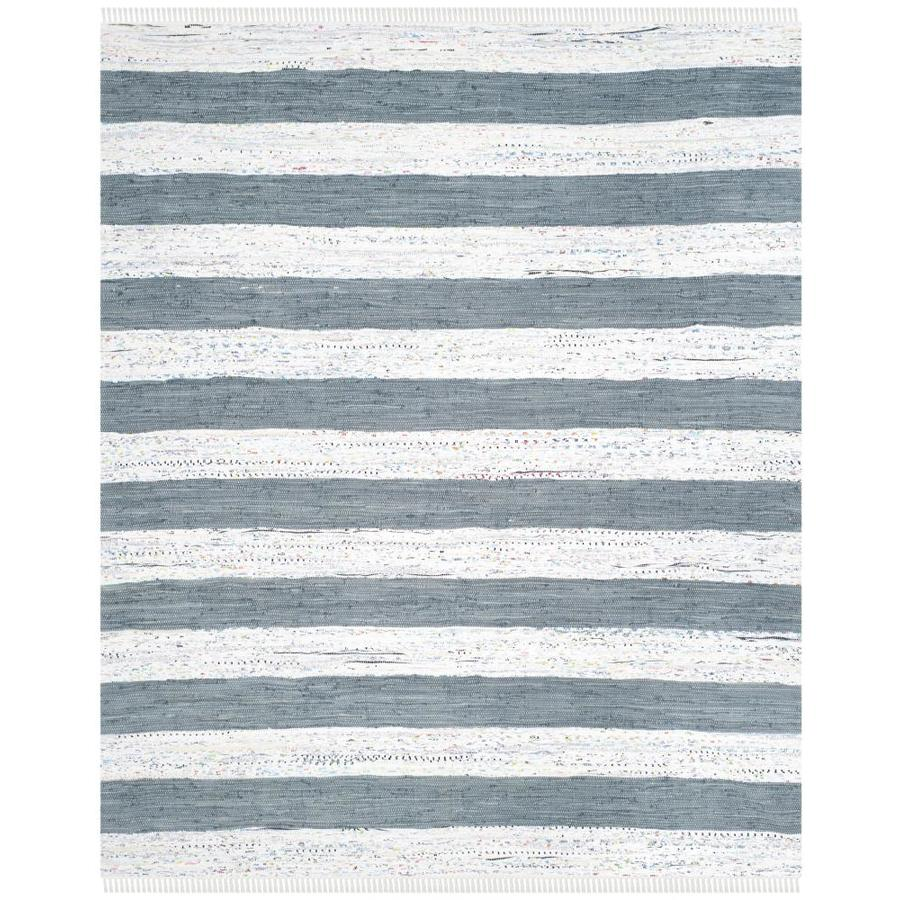Safavieh Montauk Estero Ivory/Gray Indoor Handcrafted Coastal Area Rug (Common: 9 x 12; Actual: 9-ft W x 12-ft L)