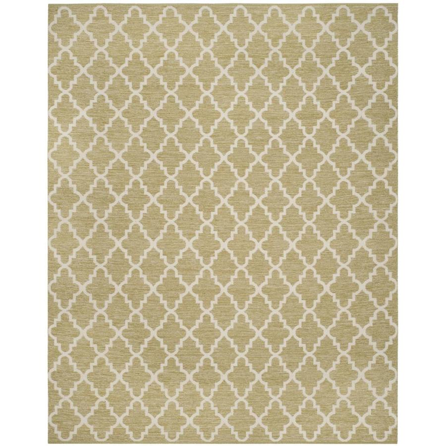 Safavieh Montauk Bolsa Green/Ivory Rectangular Indoor Handcrafted Coastal Area Rug (Common: 9 x 12; Actual: 9-ft W x 12-ft L)