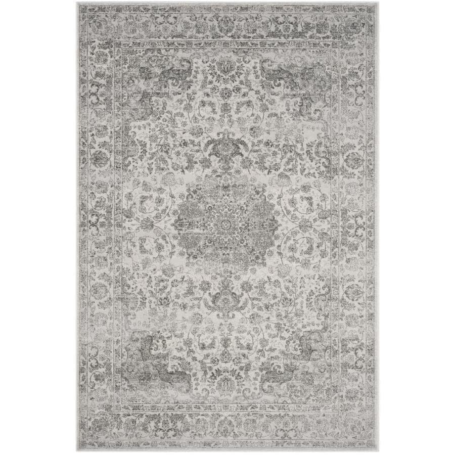 Safavieh Carnegie Cream Dark Gray Indoor Area Rug Common