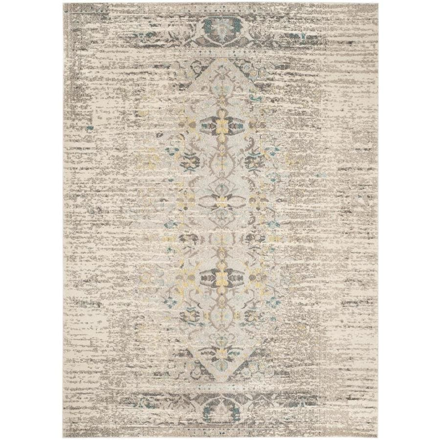Safavieh Monaco Kimberly Gray/Ivory Rectangular Indoor Machine-Made Distressed Area Rug (Common: 10 x 14; Actual: 10-ft W x 14-ft L)