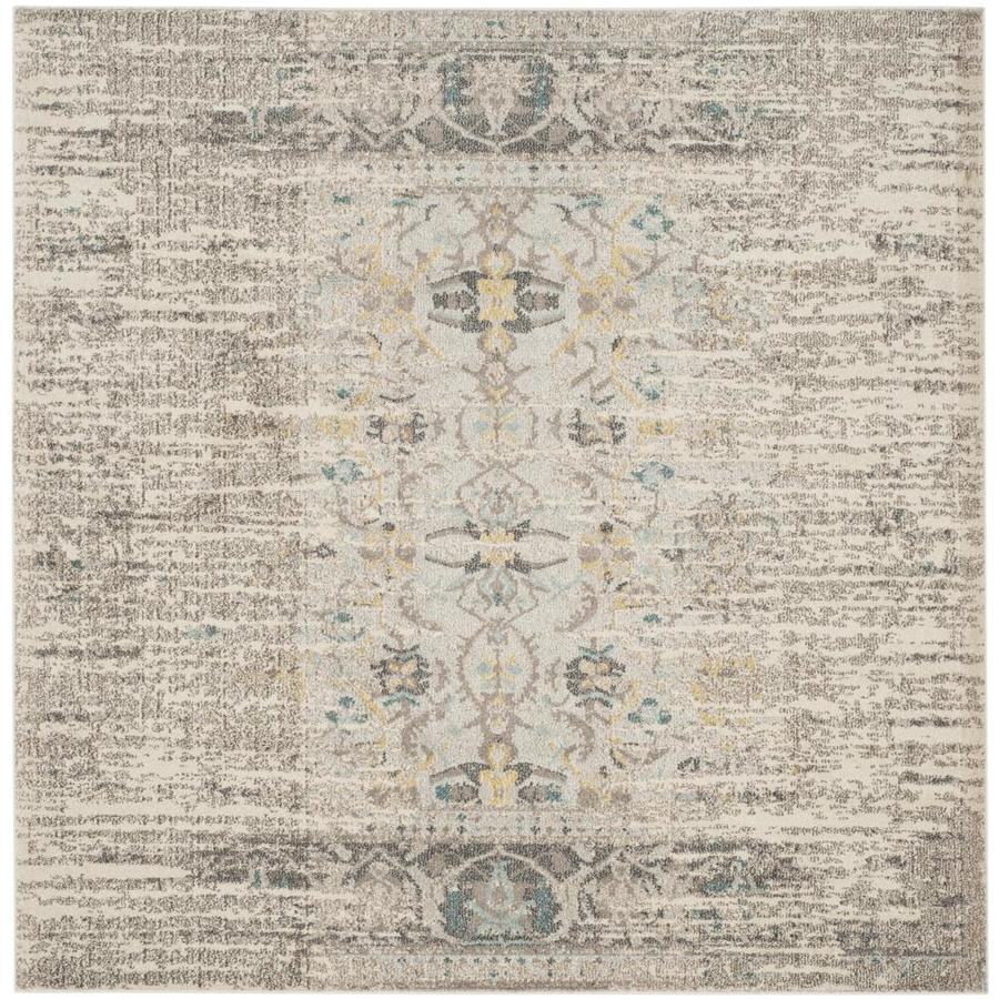 Safavieh Monaco Kimberly Gray Square Indoor Distressed Area Rug (Common: 5 x 5; Actual: 5-ft W x 5-ft L)