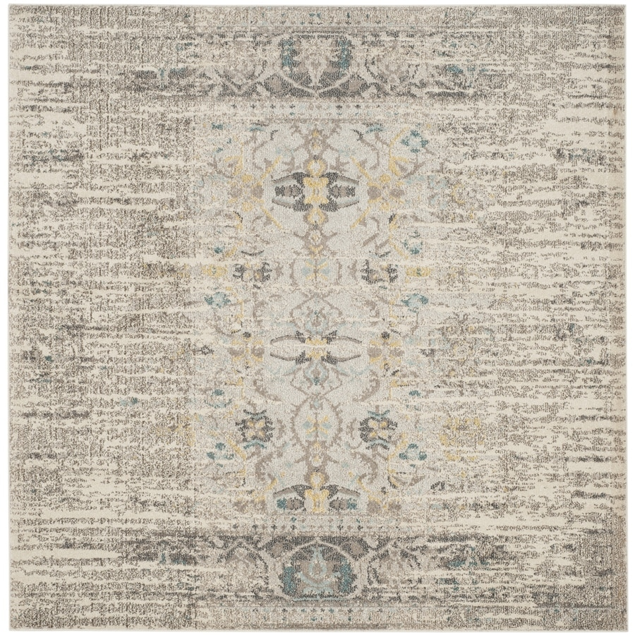 Safavieh Monaco Kimberly Gray/Multi Square Indoor Machine-made Distressed Area Rug (Common: 9 x 9; Actual: 9-ft W x 9-ft L)