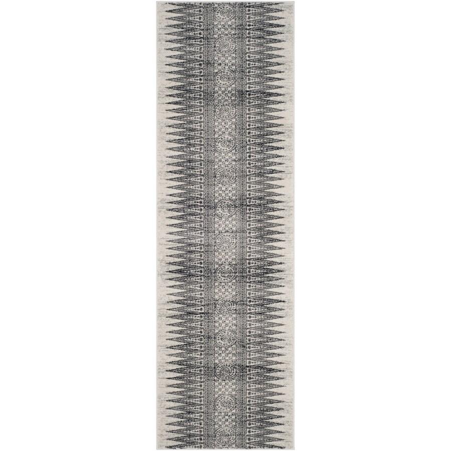 Safavieh Evoke Layla Ivory/Gray Rectangular Indoor Machine-Made Oriental Runner (Common: 2 x 9; Actual: 2.2-ft W x 9-ft L)