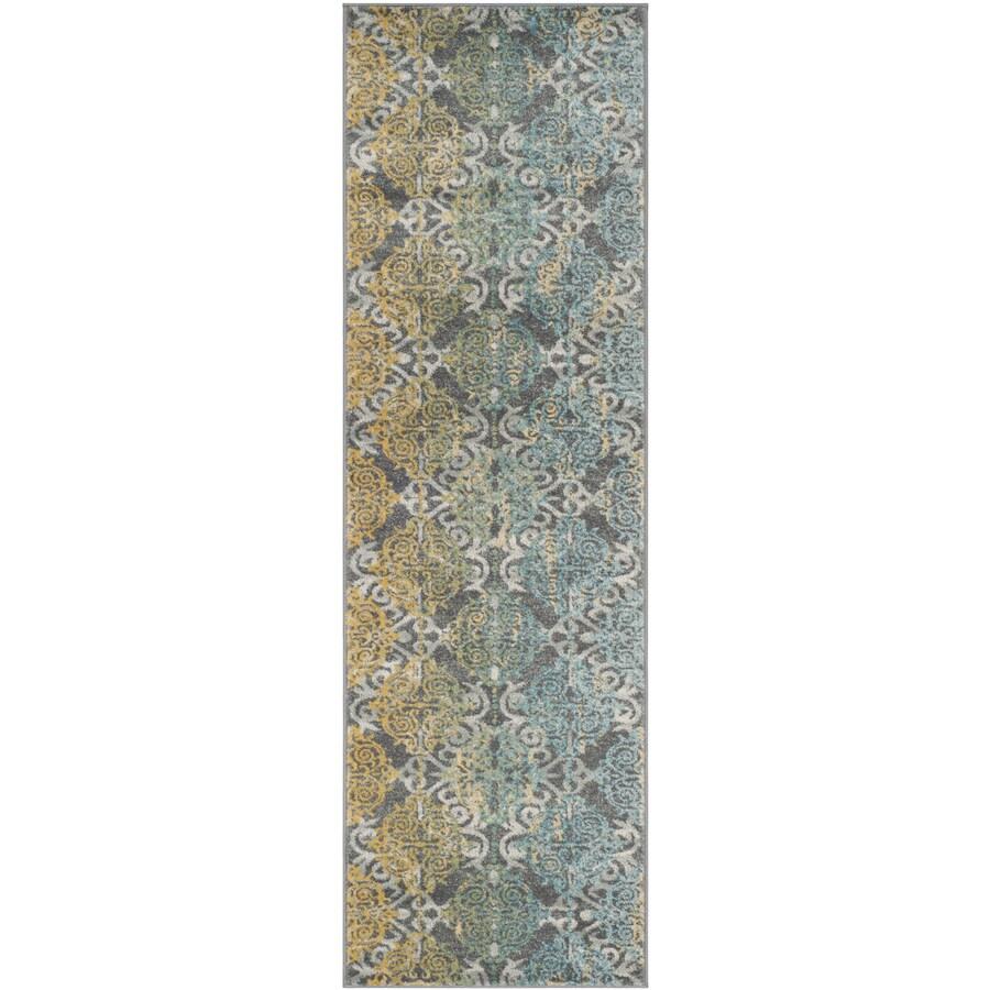 Safavieh Evoke Rigby Gray Indoor Oriental Runner (Common: 2 x 7; Actual: 2.2-ft W x 7-ft L)