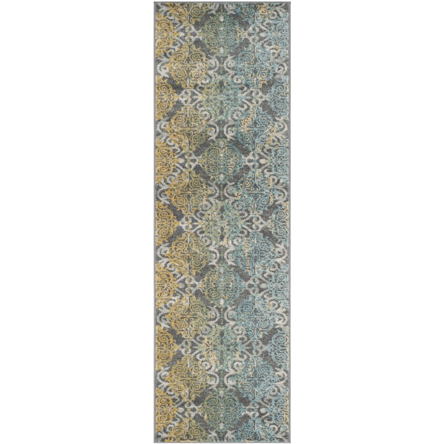 Safavieh Evoke Rigby Gray/Multi Rectangular Indoor Machine-Made Oriental Runner (Common: 2 x 9; Actual: 2.2-ft W x 9-ft L)