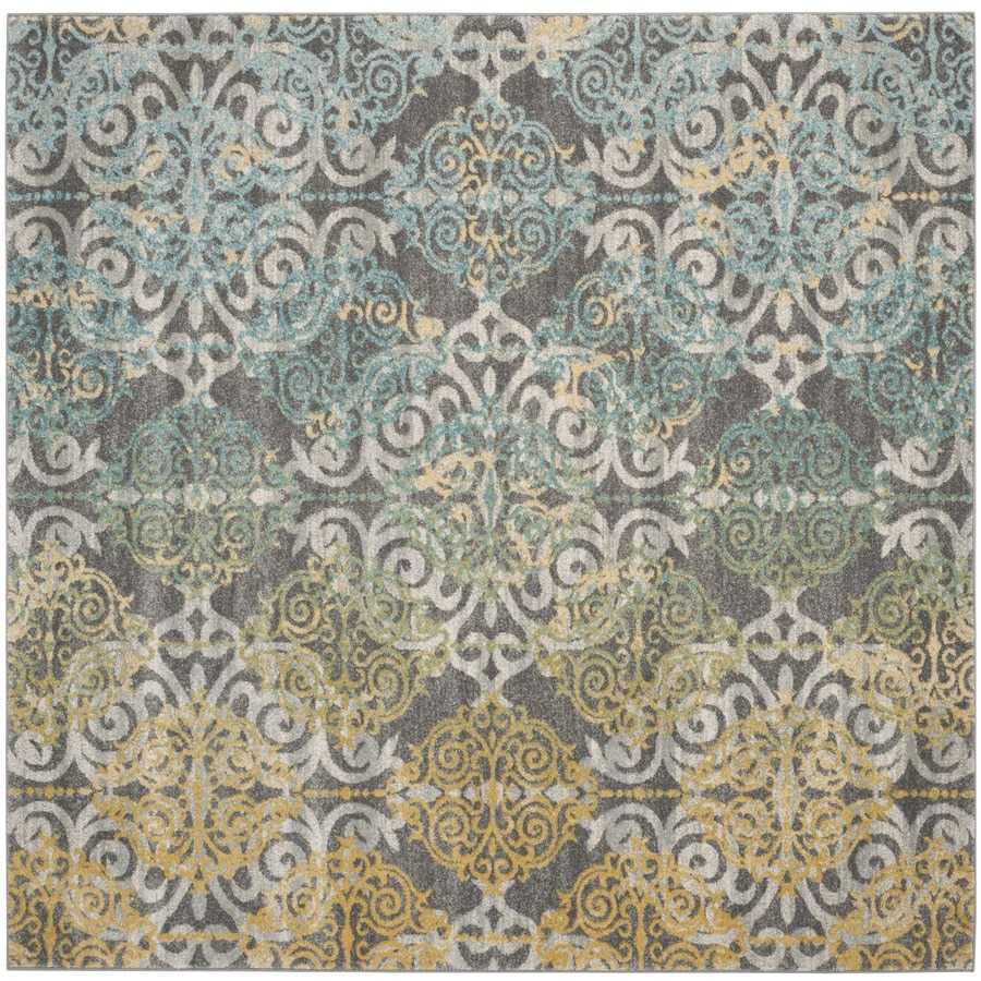 Safavieh Evoke Rigby Gray Square Indoor Oriental Area Rug (Common: 7 x 7; Actual: 6.7-ft W x 6.6-ft L)