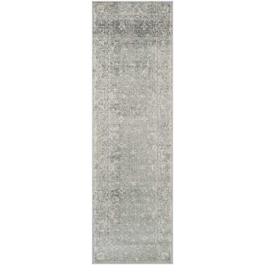 Safavieh Evoke Likoma Silver/Ivory Rectangular Indoor Machine-Made Oriental Runner (Common: 2 x 7; Actual: 2.2-ft W x 7-ft L)
