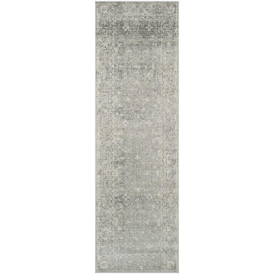 Safavieh Evoke Likoma Silver/Ivory Rectangular Indoor Machine-Made Oriental Runner (Common: 2 x 11; Actual: 2.2-ft W x 11-ft L)