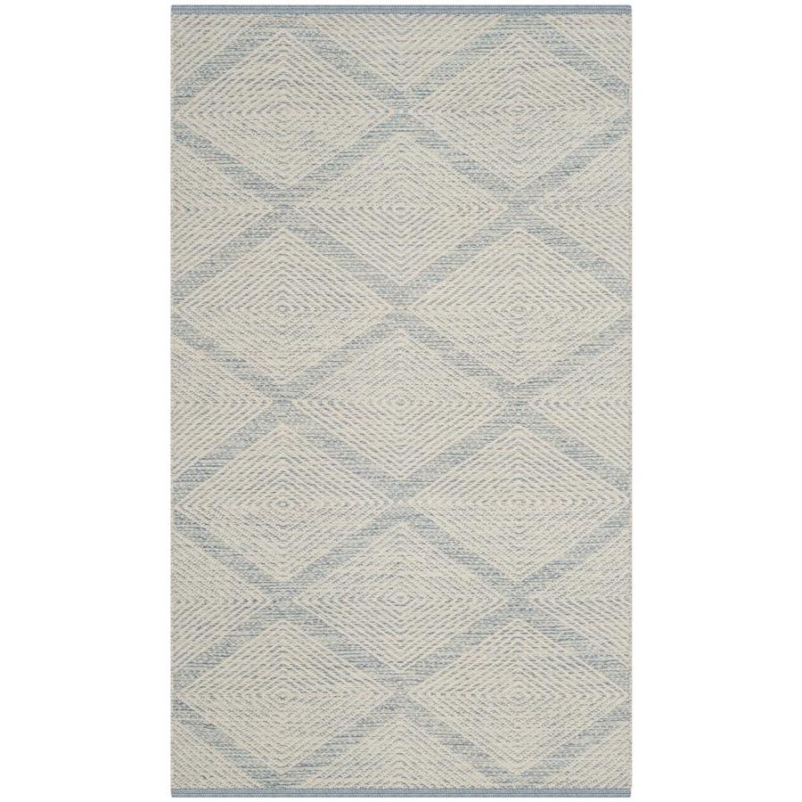 Safavieh Montauk Dume Light Blue Rectangular Indoor Handcrafted Coastal Area Rug (Common: 5 x 8; Actual: 5-ft W x 8-ft L)
