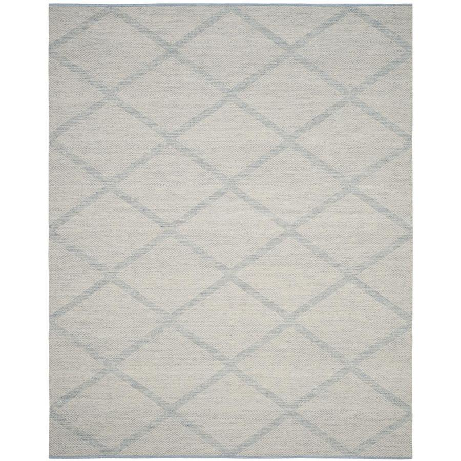 Safavieh Montauk Dume Light Blue Rectangular Indoor Handcrafted Coastal Area Rug (Common: 6 x 9; Actual: 6-ft W x 9-ft L)