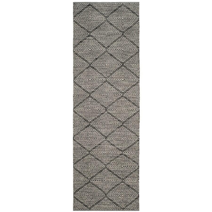 Safavieh Montauk Dume Black Rectangular Indoor Handcrafted Coastal Runner (Common: 2 x 7; Actual: 2.3-ft W x 7-ft L)
