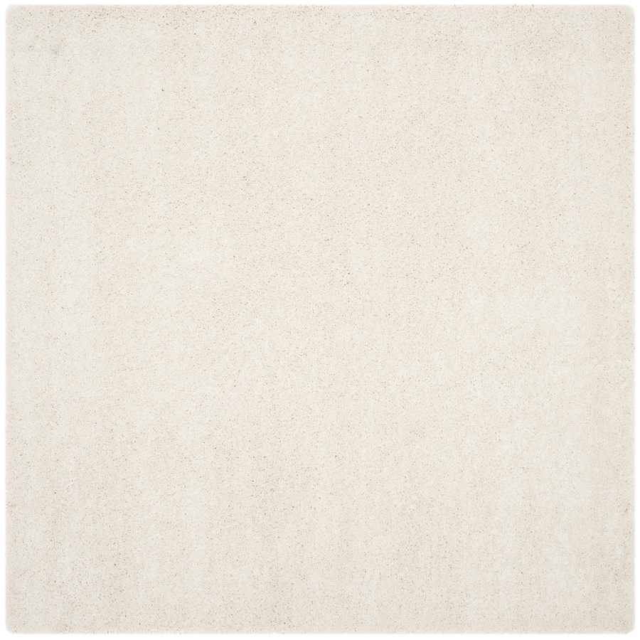 Shop safavieh milan shag ivory square indoor area rug for 10 x 10 in square feet
