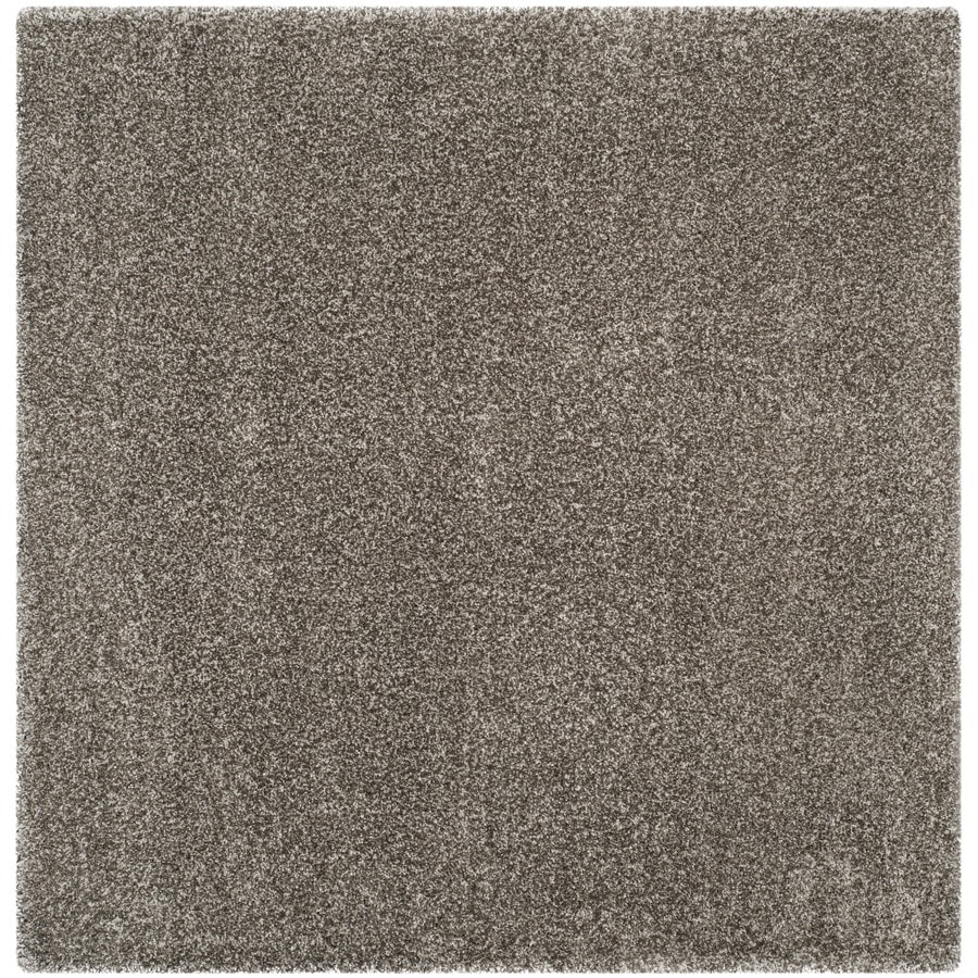 Shop safavieh milan shag gray square indoor area rug for 10 x 10 in square feet