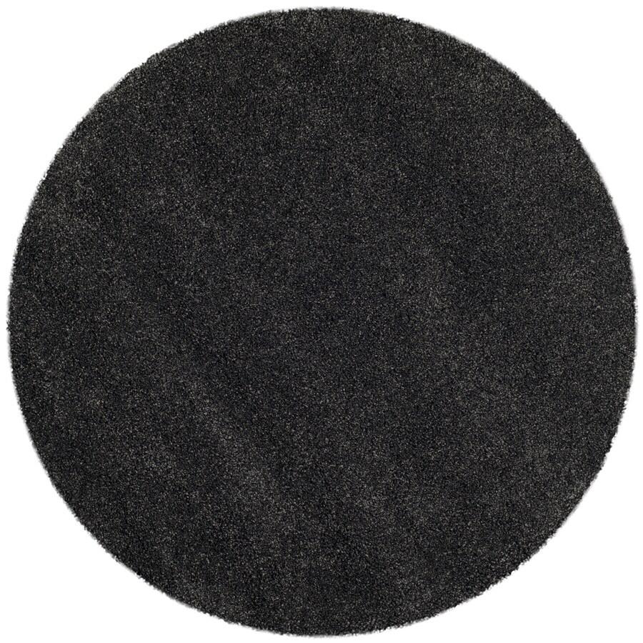 Safavieh Milan Shag Dark Gray Round Indoor Area Rug (Common: 10 x 10; Actual: 10-ft W x 10-ft L x 10-ft dia)