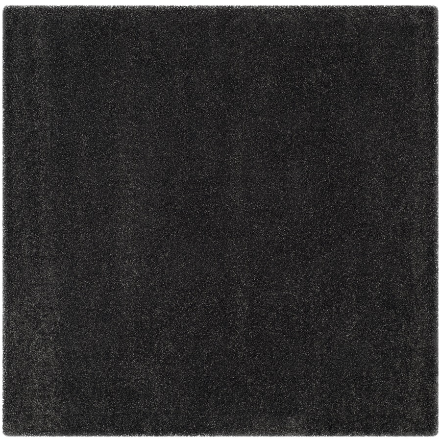 Shop Safavieh Milan Shag Dark Gray Square Indoor Area Rug