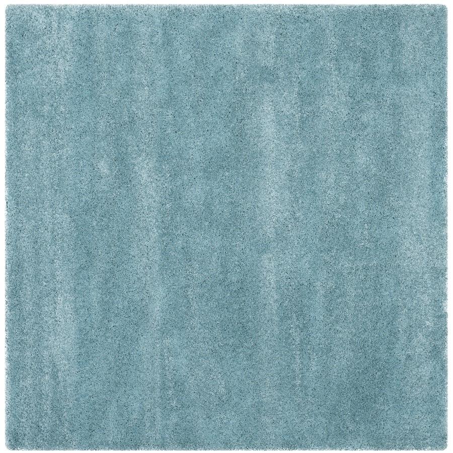 Safavieh Milan Shag Aqua Blue Square Indoor Area Rug (Common: 10 x 10; Actual: 10-ft W x 10-ft L)