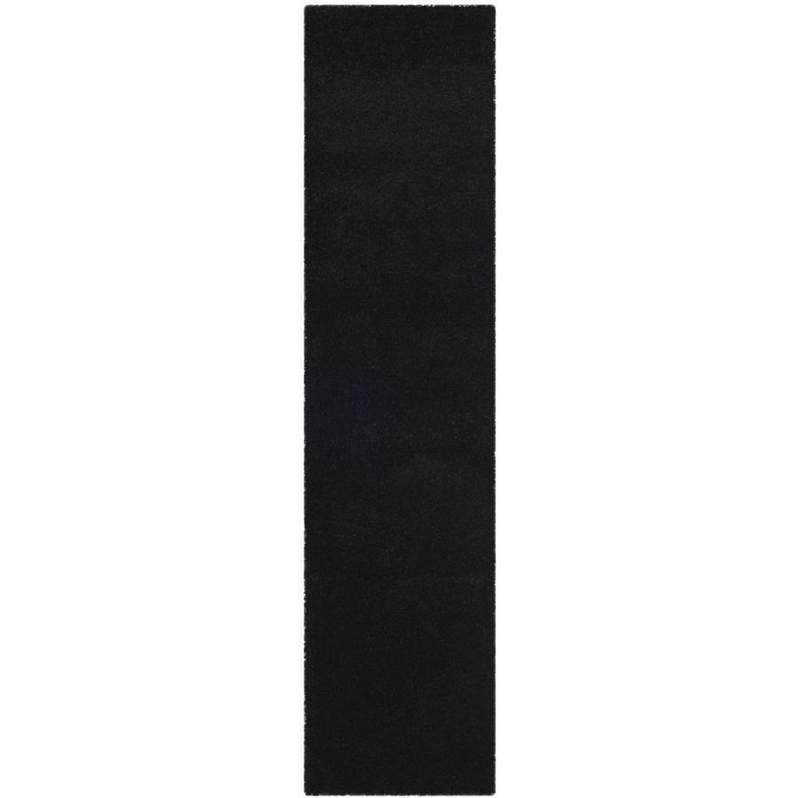 Safavieh Milan Shag Black Indoor Runner (Common: 2 x 6; Actual: 2-ft W x 6-ft L)