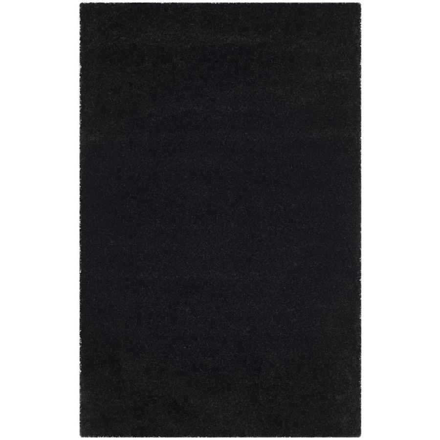 Safavieh Milan Shag Black Rectangular Indoor Area Rug (Common: 5 x 8; Actual: 5.1-ft W x 8-ft L)