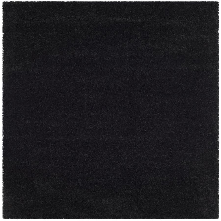 Safavieh Milan Shag Black Square Indoor Area Rug (Common: 7 x 7; Actual: 6.6-ft W x 6.6-ft L)
