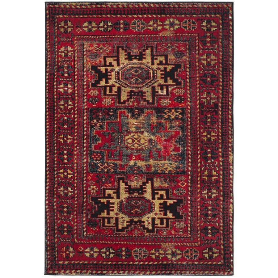 Safavieh Vintage Hamadan Kazak Red Indoor Lodge Area Rug (Common: 4 x 6; Actual: 4-ft W x 6-ft L)
