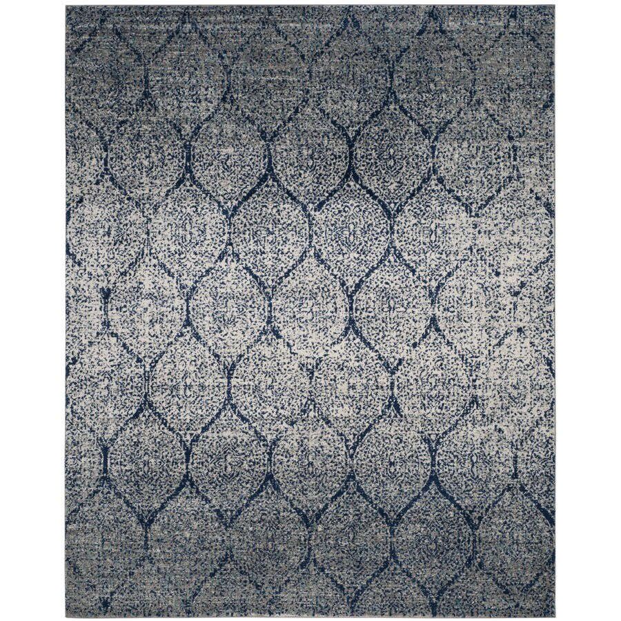 Safavieh Madison Westmont Navy/Silver Indoor Lodge Area Rug (Common: 7 x 9; Actual: 6.7-ft W x 9.2-ft L)