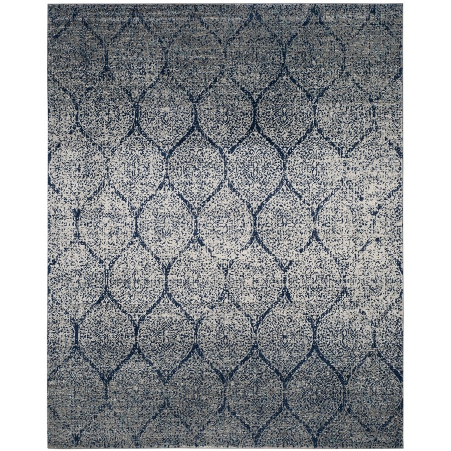 Safavieh Madison Westmont Navy/Silver Indoor Lodge Area Rug (Common: 9 x 12; Actual: 9-ft W x 12-ft L)
