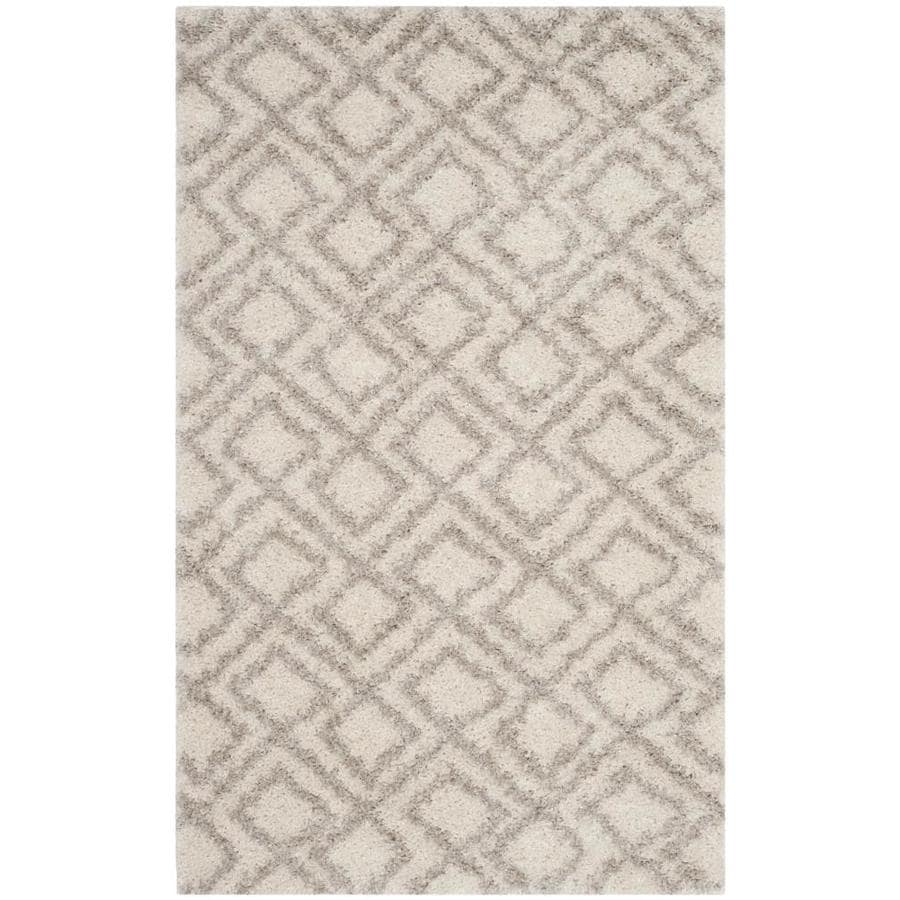 Safavieh Arizona Alonzo Ivory/Beige Indoor Throw Rug (Common: 3 x 5; Actual: 3-ft W x 5-ft L)