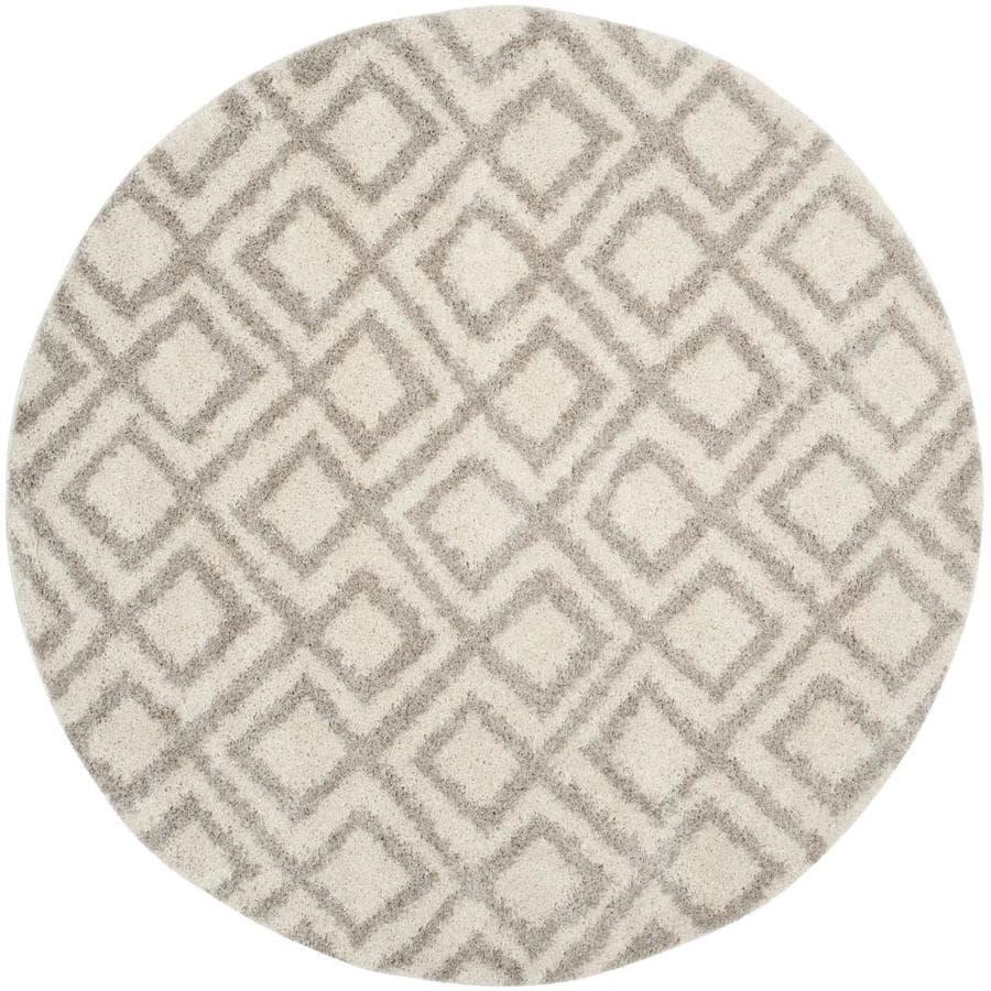 Safavieh Arizona Alonzo Ivory/Beige Round Indoor Area Rug (Common: 7 x 7; Actual: 6.7-ft W x 6.6-ft L x 6.6-ft dia)