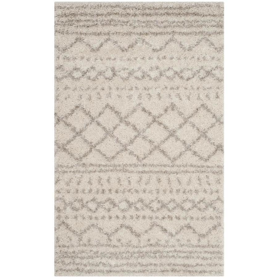 Safavieh Arizona Bennet Ivory/Beige Indoor Throw Rug (Common: 3 x 5; Actual: 3-ft W x 5-ft L)