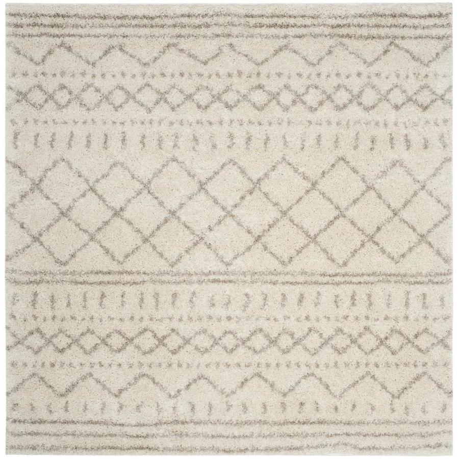 Safavieh Arizona Bennet Ivory/Beige Square Indoor Area Rug (Common: 7 x 7; Actual: 6.7-ft W x 6.6-ft L)
