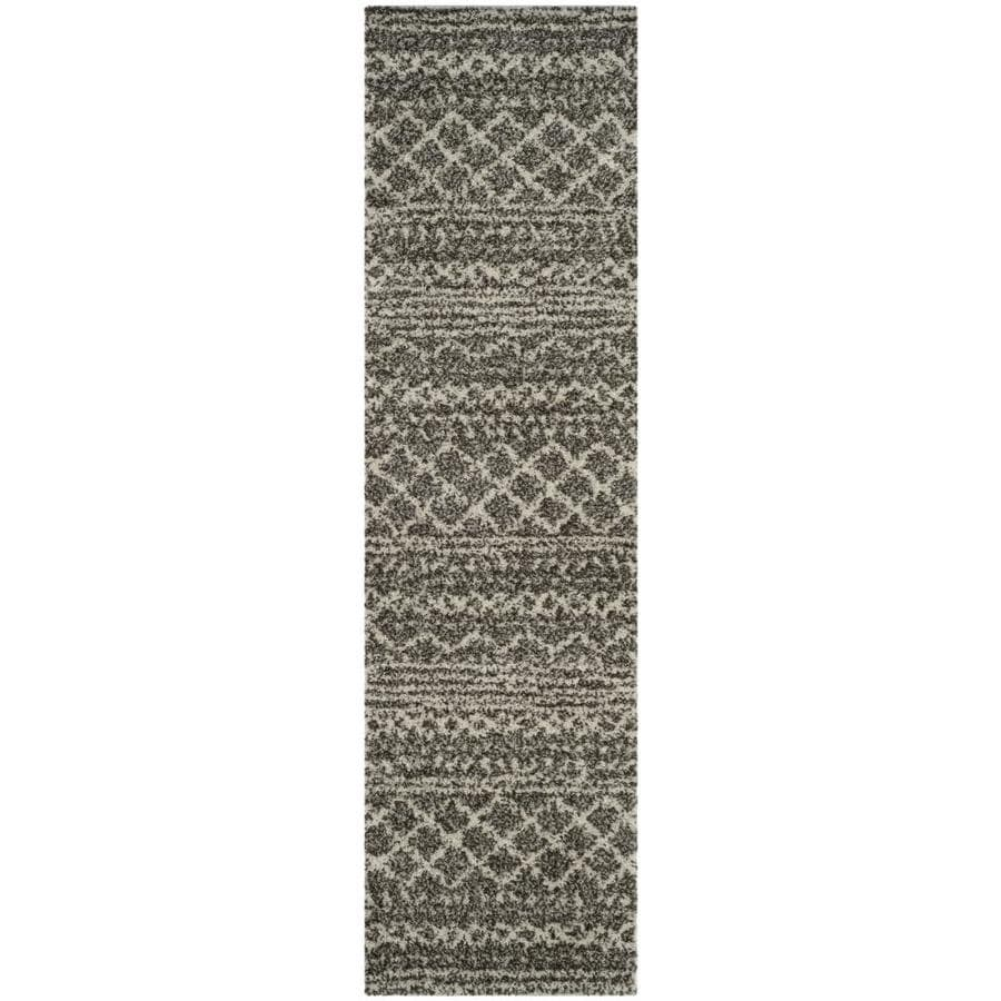 Safavieh Arizona Bennet Brown/Ivory Indoor Runner (Common: 2 x 8; Actual: 2.3-ft W x 8-ft L)