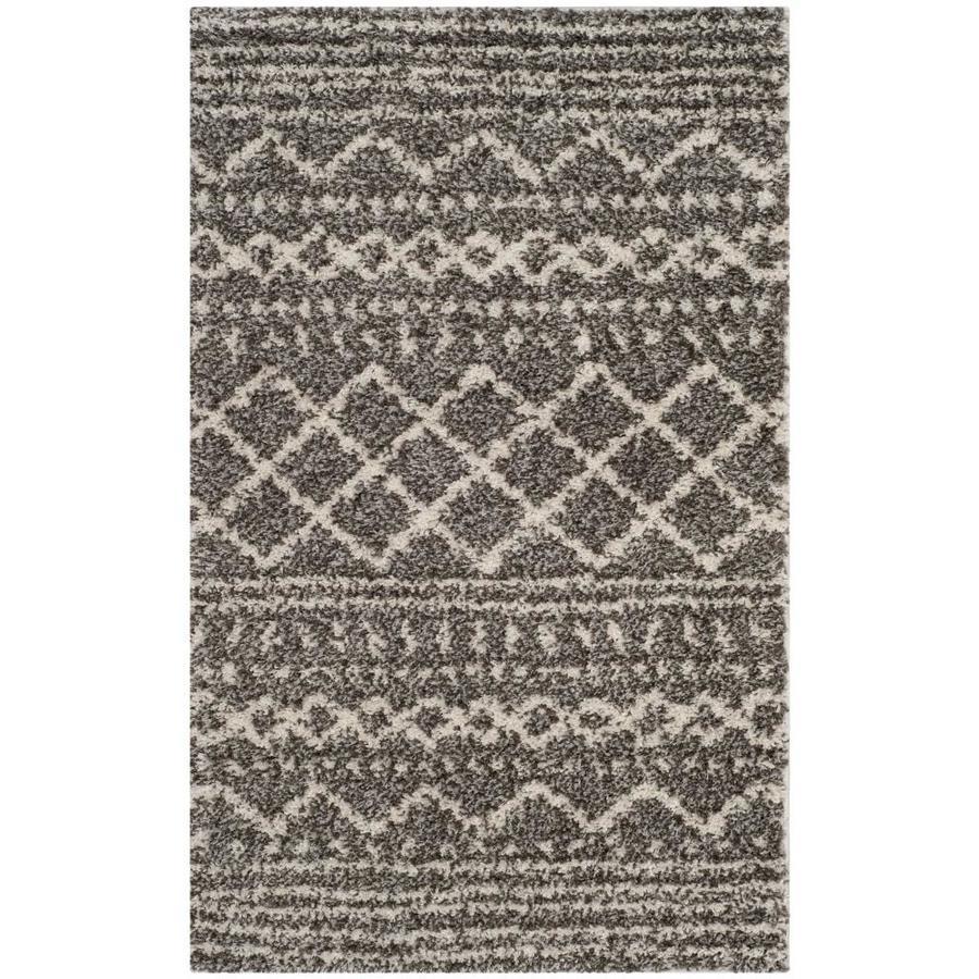 Safavieh Arizona Bennet Brown/Ivory Indoor Throw Rug (Common: 3 x 5; Actual: 3-ft W x 5-ft L)