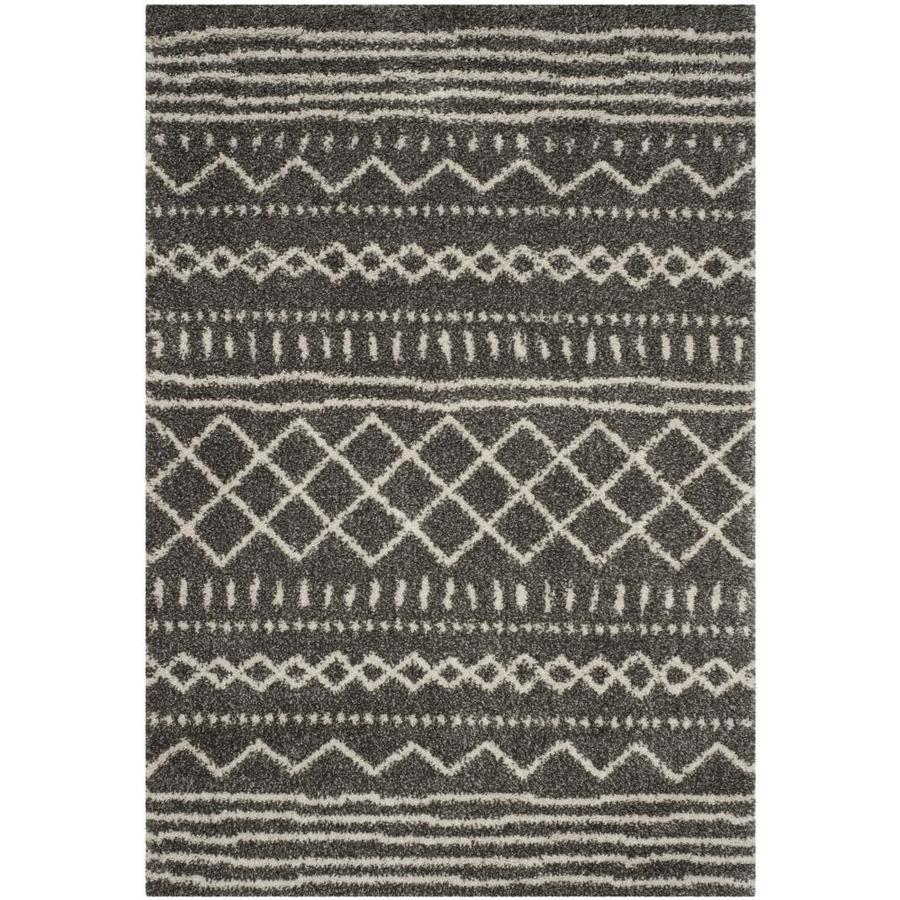 Safavieh Arizona Bennet Brown/Ivory Indoor Area Rug (Common: 7 x 9; Actual: 6.7-ft W x 9.2-ft L)