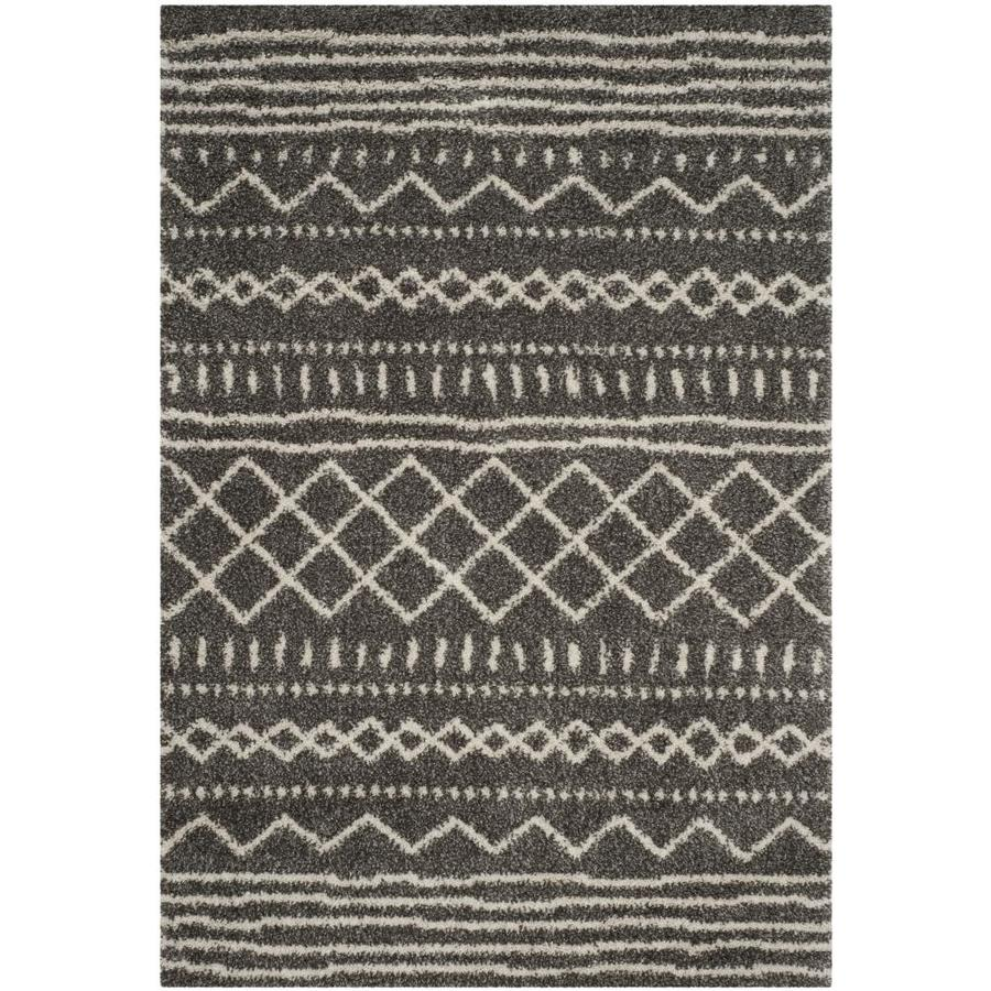 Safavieh Arizona Bennet Brown/Ivory Indoor Area Rug (Common: 8 x 10; Actual: 8-ft W x 10-ft L)