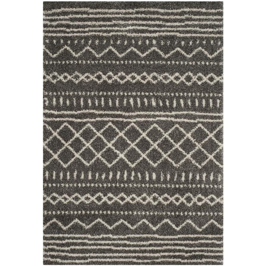 Safavieh Arizona Bennet Brown/Ivory Indoor Area Rug (Common: 9 x 12; Actual: 9-ft W x 12-ft L)