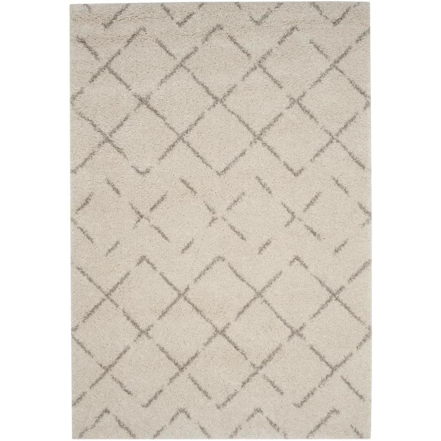 Safavieh Arizona Myra Ivory/Beige Indoor Area Rug (Common: 5 x 8; Actual: 5.1-ft W x 7.5-ft L)