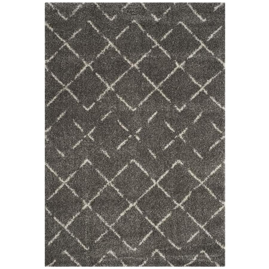 Safavieh Arizona Myra Brown/Ivory Indoor Area Rug (Common: 7 x 9; Actual: 6.7-ft W x 9.2-ft L)