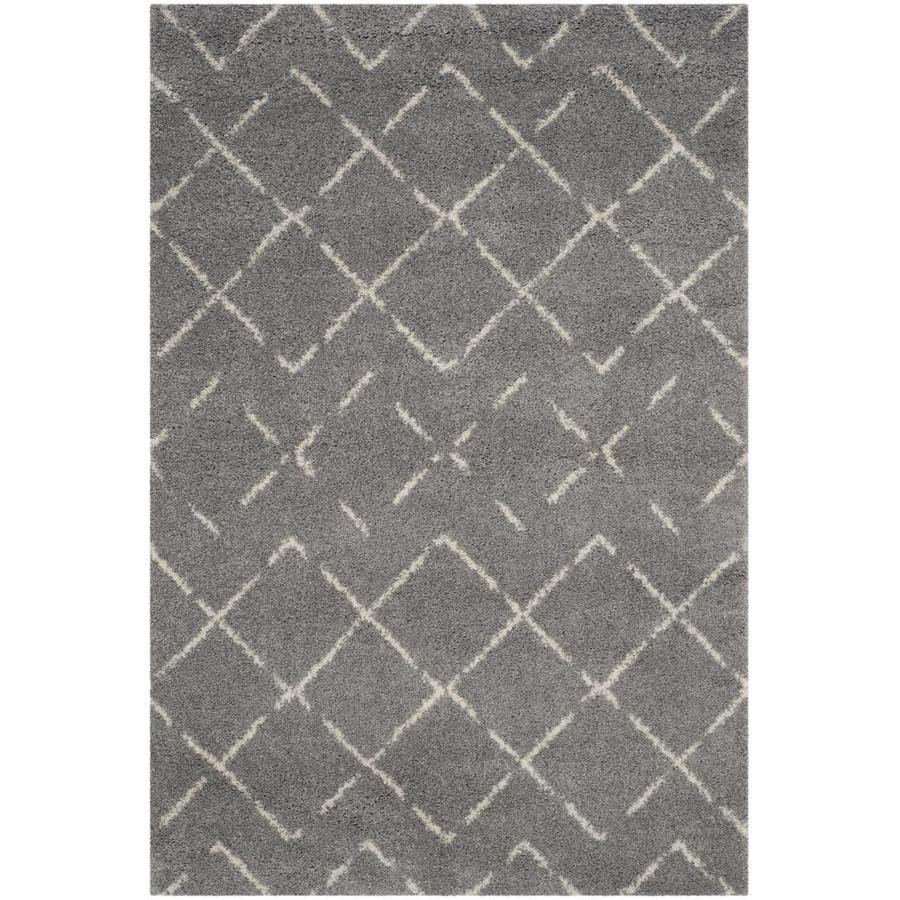 Safavieh Arizona Myra Gray/Ivory Indoor Area Rug (Common: 4 x 6; Actual: 4-ft W x 6-ft L)