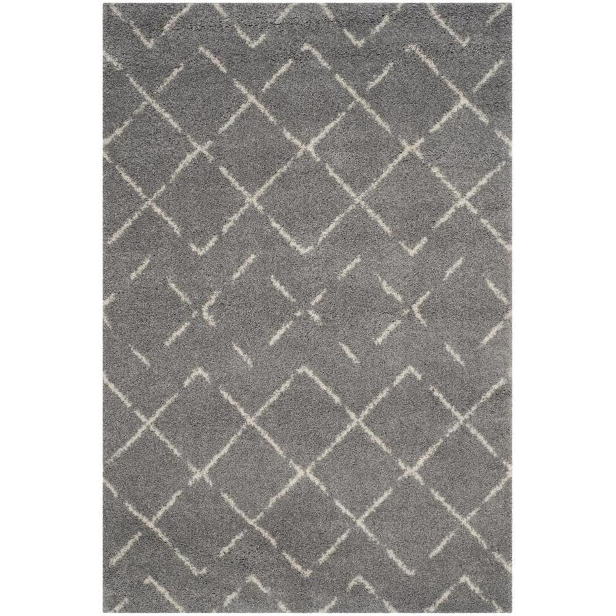 Safavieh Arizona Myra Gray/Ivory Indoor Area Rug (Common: 5 x 8; Actual: 5.1-ft W x 7.5-ft L)