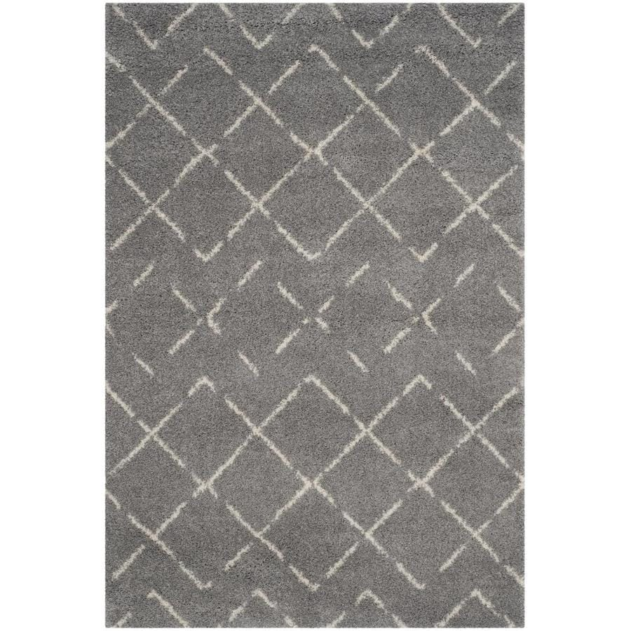 Safavieh Arizona Myra Gray/Ivory Indoor Area Rug (Common: 7 x 9; Actual: 6.7-ft W x 9.2-ft L)