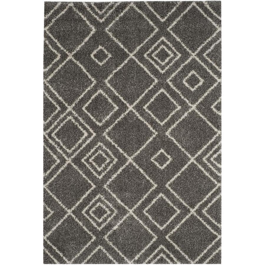 Safavieh Arizona Nettie Brown/Ivory Rectangular Indoor Machine-Made Area Rug (Common: 4 X 6; Actual: 4-ft W x 6-ft L)