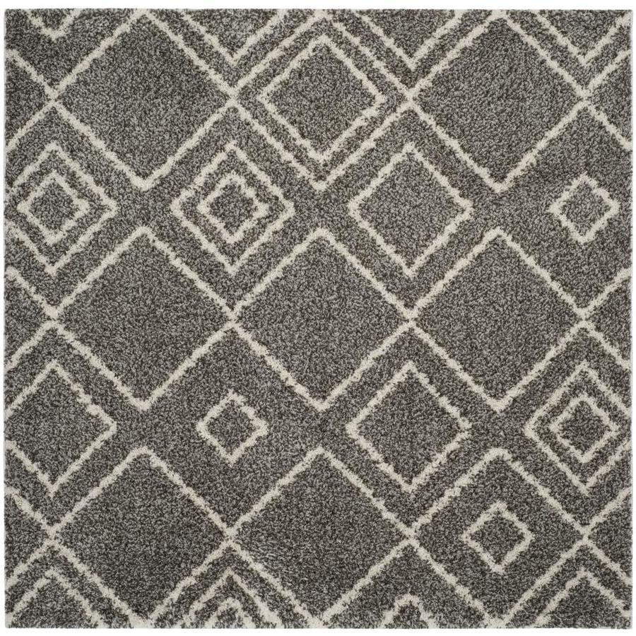 Safavieh Arizona Nettie Brown/Ivory Square Indoor Area Rug (Common: 7 x 7; Actual: 6.7-ft W x 6.6-ft L)