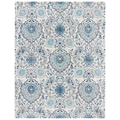 Madison Abbey Cream Light Gray Rectangular Indoor Machine Made Bohemian Eclectic Area Rug Common 8 X 10 Actual Ft W L
