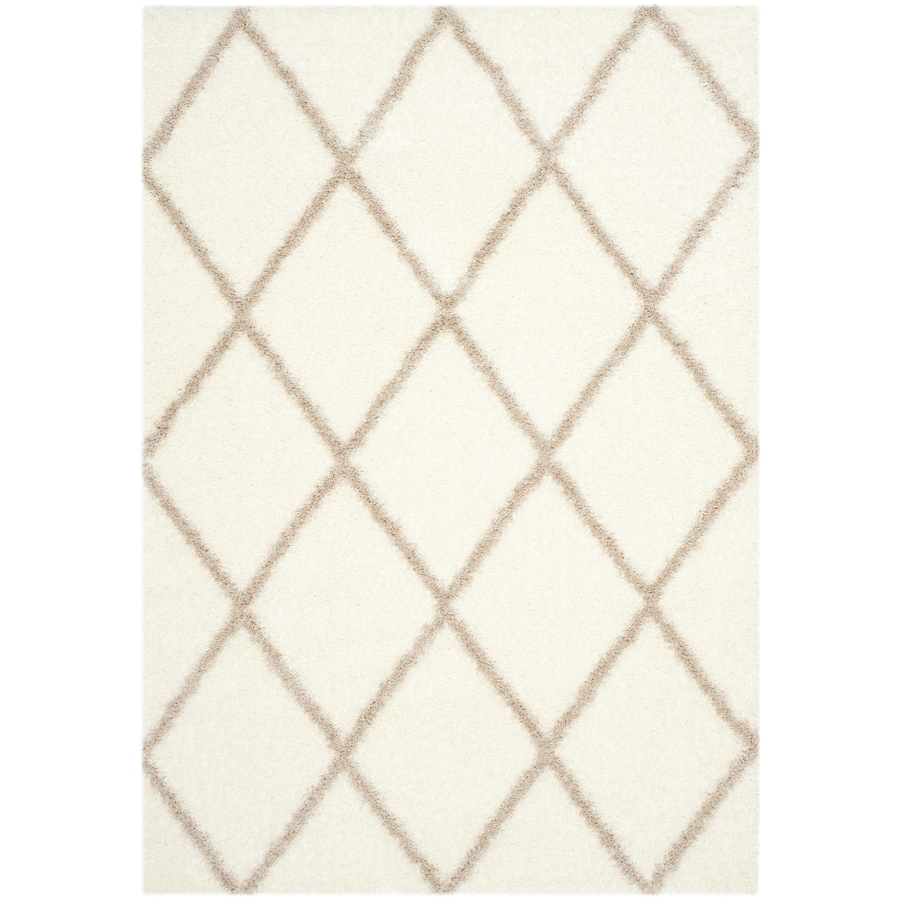 Safavieh Montreal Laval Shag Ivory/Beige Rectangular Indoor Area Rug (Common: 7 x 10; Actual: 6.6-ft W x 9.5-ft L)