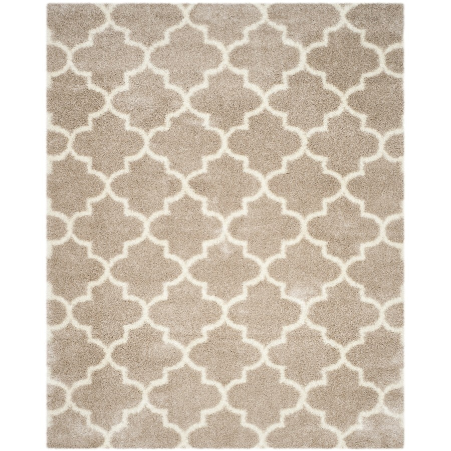 Safavieh Montreal Mirabel Shag Beige/Ivory Rectangular Indoor Area Rug (Common: 9 x 12; Actual: 8.5-ft W x 12-ft L)