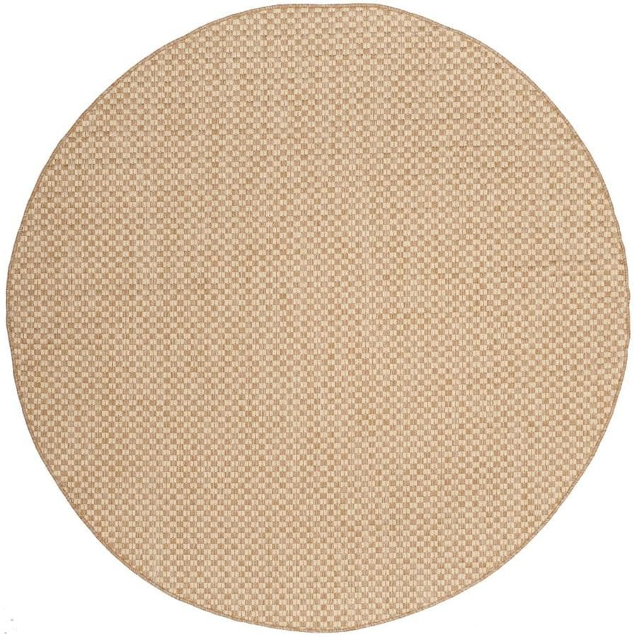 Shop Safavieh Courtyard Salvador Natural Cream Round Indoor Outdoor Machine M