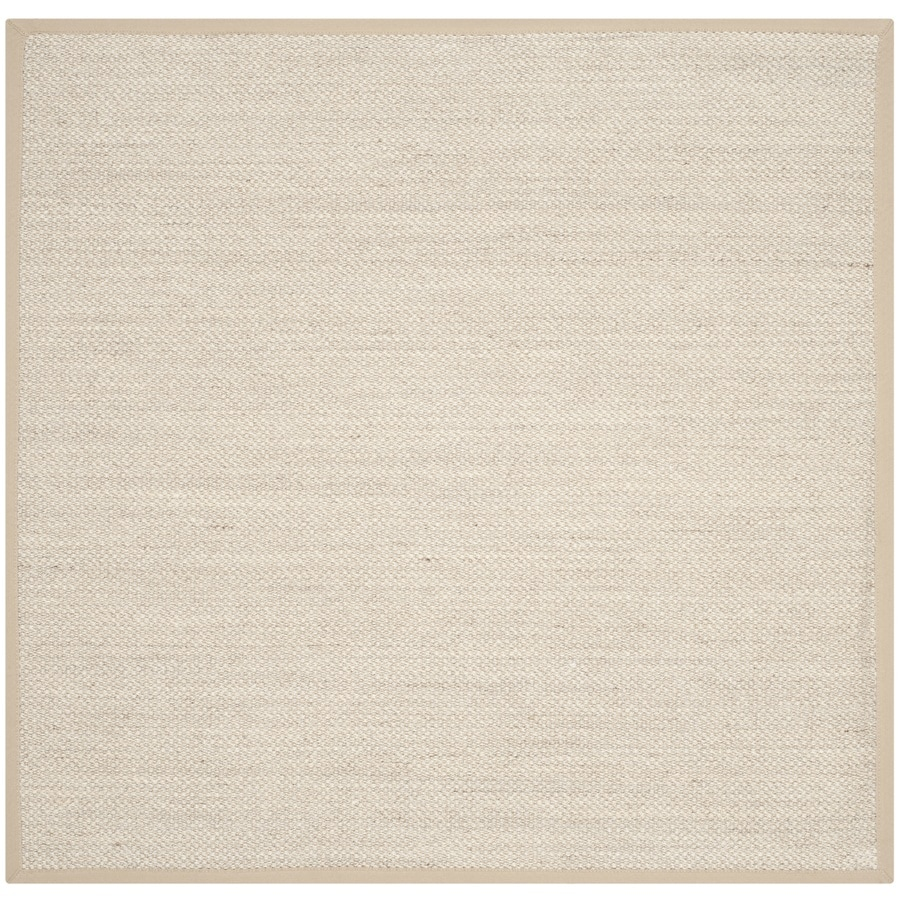 Safavieh Natural Fiber Pines Marble/Linen Square Indoor Coastal Area Rug (Common: 10 x 10; Actual: 10-ft W x 10-ft L)