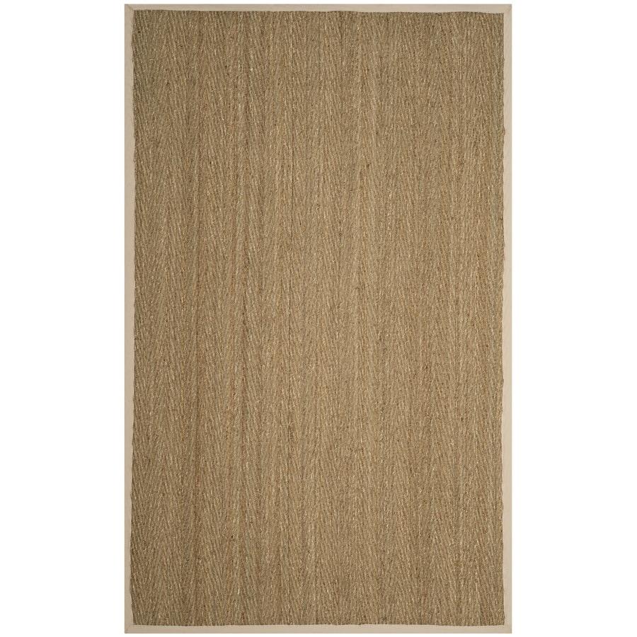 Safavieh Natural Fiber Montauk Natural/Ivory Indoor Coastal Area Rug (Common: 6 x 9; Actual: 6-ft W x 9-ft L)