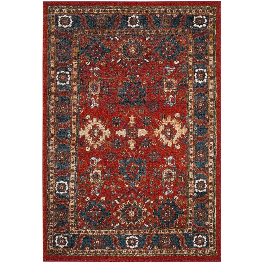 Safavieh Vintage Hamadan Baktiar Orange/Blue Indoor Lodge Throw Rug (Common: 3 x 5; Actual: 2.6-ft W x 5-ft L)